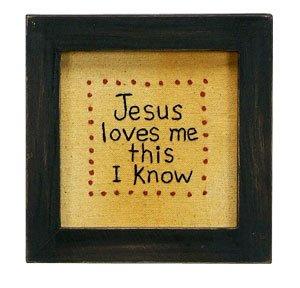 Primitives Stitchery Jesus Loves Me